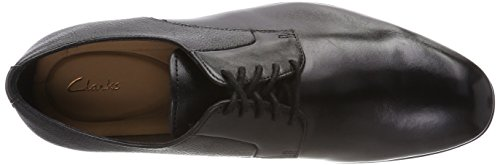 Zapatos Black Gilmore Lace Negro para Cordones Derby Leather de Hombre Clarks UEzBwxqdq