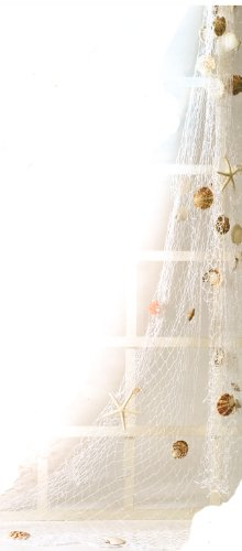 HS Decorative White Fish Net w/Shells & - Netting Hs