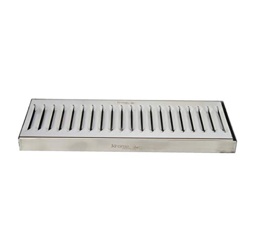 (Krome Dispense C606 Stainless Steel Drip Tray Surface, No Drain, 12