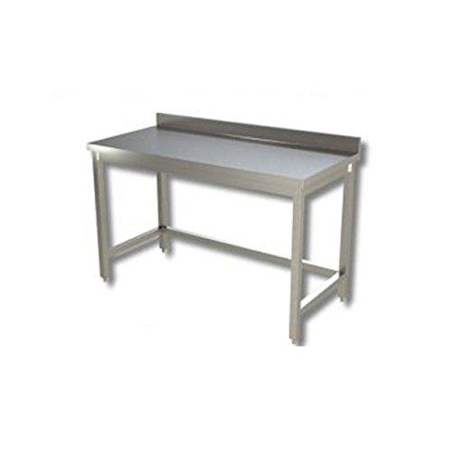 Mesa de acero inoxidable sin estante de fondo con alzatina Dim. cm ...