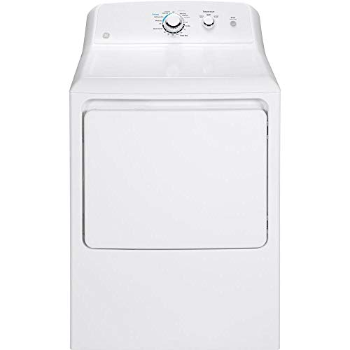 GE GTD33EASKWW Aluminized Alloy Drum Electric Dryer, 7.2 Cu. Ft. Capacity, White,