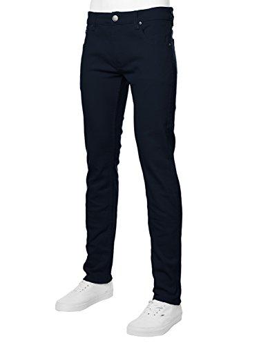 URBAN K Men's Skinny Fit Jeans,Navy,28W x 30L