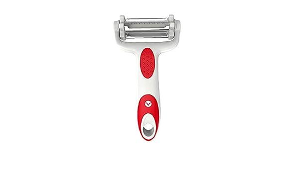 TDlmfRDi /Útil 3 En 1 Vegetable Peeler Inoxidable De Acero Giratorio Dentadas Cuchillas Julienne Slicer Red