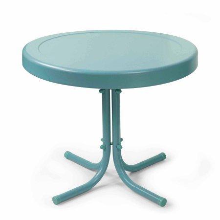 Crosley Furniture Retro Metal Side Table (Blue)