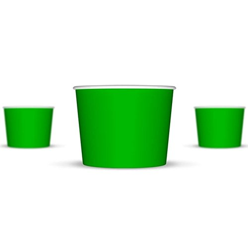4 oz Ice Cream Cups, Small Green Paper Cups, Kids Birthday Party Cups, Frozen Dessert Cups, Disposable Containers, Great For Ice Cream, Frozen Treats And Much More! (Ice Cream Disposable Cups compare prices)