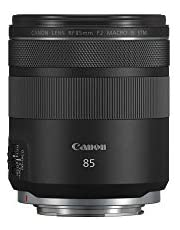 Canon RF 85mm F2 Macro is STM, Compact Medium-Telephoto Black Lens (4234C002)