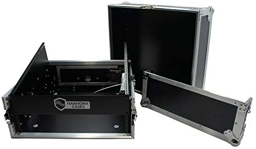 Harmony Case HCM2U DJ Pro Audio 10U Slant Top 4U Vertical Mixer Rack Case ()