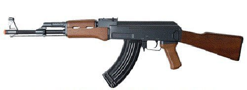 double eagle full auto electric metal aeg ak-47 rifle fps-350 airsoft gun(Airsoft ()