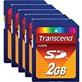(Lot of 25 Transcend 2 GB SD Flash Memory Card (TS2GSDC))