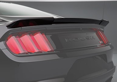 (2015-2019 Mustang Rear Wing Spoiler Primed & Paint Ready ROUSH 421883)