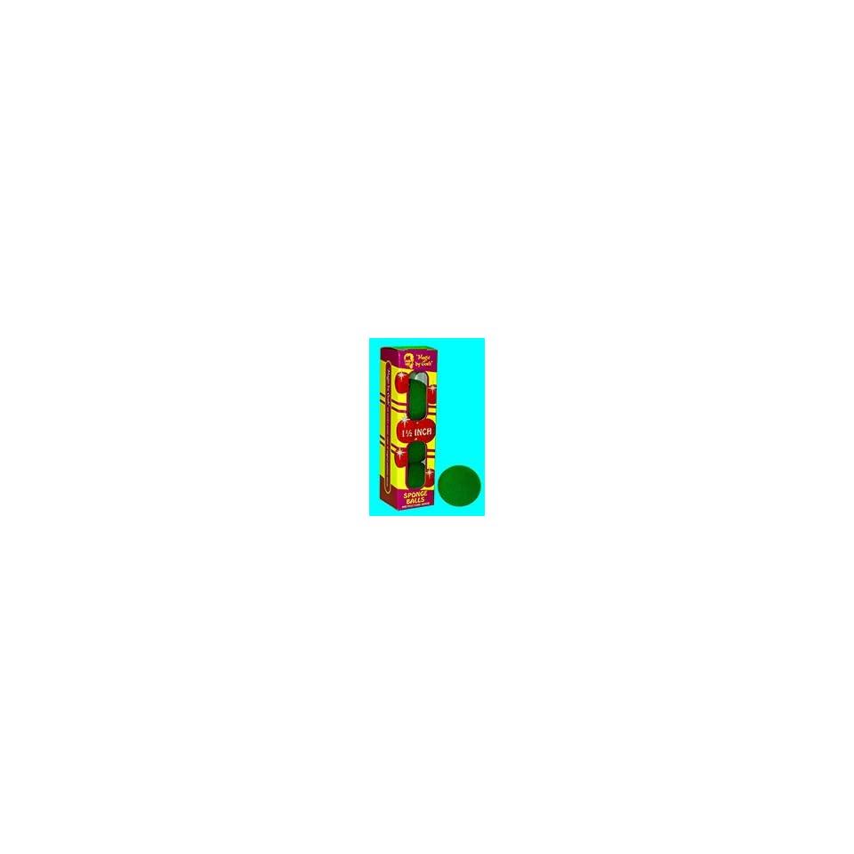 Sponge Balls 1.5 GREEN   Close Up / Magic Trick