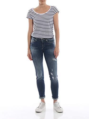 Stretch Skinny elasticizzato fit P692DS0112DT60GPDD strappati Jeans Blu Donna blu DONDUP Tessuto 800 AZ1XxZ