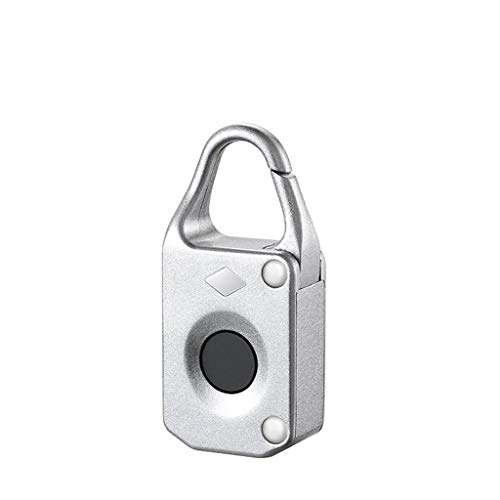 Gmt Combination Safe - Betty Smart fingerprint padlock security lock waterproof lock for cabinet suitcase bag luggage (Color : Silver)