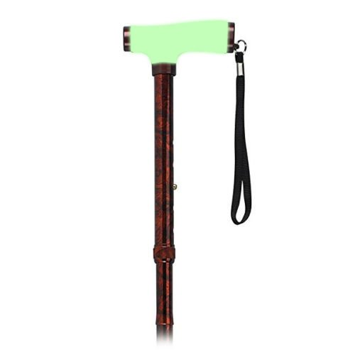 Drive Medical Adjustable Lightweight Folding Cane with Glow Grip Handle by Balance World Inc