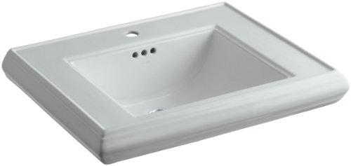KOHLER K-2259-1-95 Memoirs Pedestal Bathroom Sink Basin with Single-Hole Faucet Drilling, Ice Grey