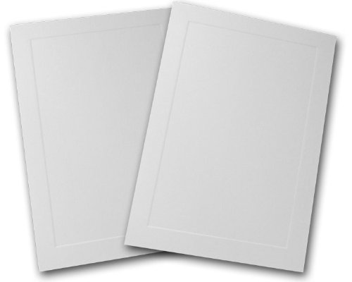 Embossed Bar - Blank Embossed Panel 4 Bar Response Cards - 250 Pack (White)