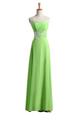 WeiYin Women's Chiffon Sweetheart Prom Dresses Evening Gowns