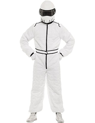 Stig Fancy Dress - White Race Suit and Helmet