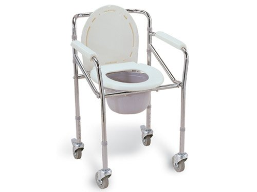 Veayva Healthcare Height Adjustable Commode Chair with
