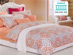 mandala peach twin xl comforter set designer series twin extra long