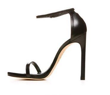 Noires SHOESHAOGE De Couleur Fine Hauts Miss Chaussures Talons Sandales unie Un Mot Talon Boucle rtt0q