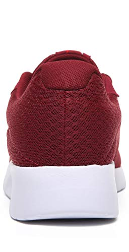MAlITRIP Athletic Shoes Men Casual Cool Light Comfort Fashion Walking Running Training Workout Sneakers for Young Mens Calzados para Hombres Size 11 Wine Red