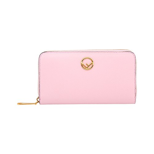 (Fendi Zip-Around Ladies Large Pink Leather Wallet 8M0299A18BF01KW)