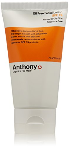Anthony Logistics for Men Oil Free Facial Lotion SPF 15, 2.5 oz.