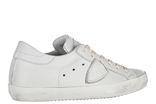 Sneakers Donna Modello Philippe Sneakers In Pelle Da Donna Paris Bianche
