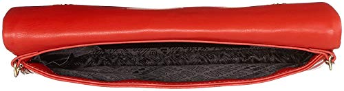 Borsa Nappa Love Shoulder rosso Pu Women's Moschino Red Quilted Bag 6w64tESq