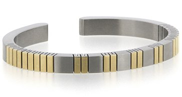 Qray Bracelet - Qray Feather Flex Stainless Steel Bracelet Q-Ray Q.Ray Qray (8 Inches) by QRAY