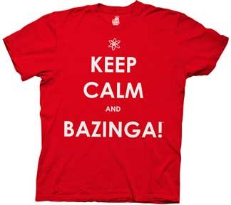 Big Bang Theory Keep Calm and Bazinga T-Shirt