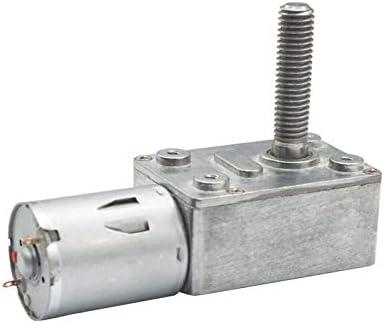 Motor High Torque Worm motor/éducteur 8 mm 33 mm Sortie vis /à vis de larbre /à Bride DC 6v 12v 24v 2rpm /à 150 Tours par Minute motor/éducteurs /à vis sans Fin en m/étal Practical