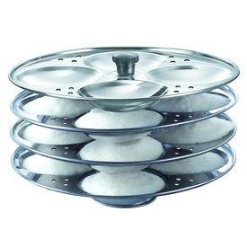Prestige Stainless Steel Idli Stand 4 Racks Makes 16 Idlis