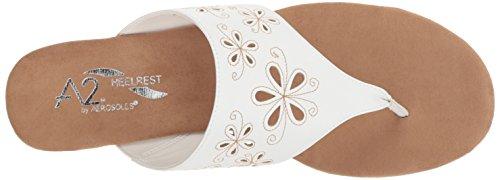 Air Women's Aerosoles Sandal Flow White Wedge O5xnUqdn