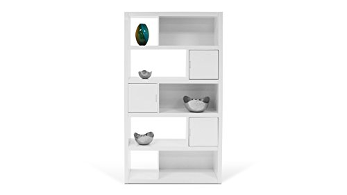 Amazon.com: Keaton White High Gloss Bookcase: Kitchen & Dining