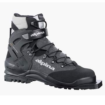 (Alpina Bc 1575 75mm Backcountry Xc - Ski Boots - 44 - Black/Silver)