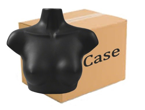 Case of 36 Female Upper Torso Forms, Black by Plastic Mannequins