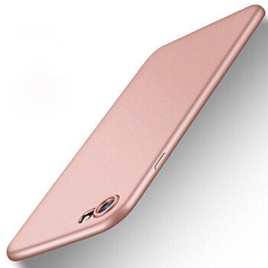 Fundas y estuches para teléfonos móviles, Para el iphone 7 más 7 cubrieron el caso helado de la contraportada de la caja de la contraportada del color sólido 6s más 6 más 6s 6 ( Color : Rojo , Modelos