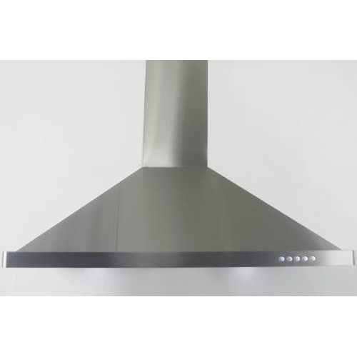 Image of AKDY Wall Mount Range Hood – Stainless-Steel Hood Fan for Kitchen – 3-Speed Professional Quiet Motor – Premium Push Control Panel – Modern Design – Baffle Filter & LED & Carbon Filters (30 in.)