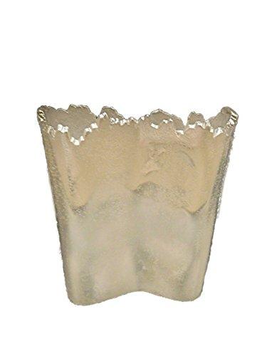Gold Eagle USA Small Uneven Edge Rectangle Metal Vase, - Eagle Vase