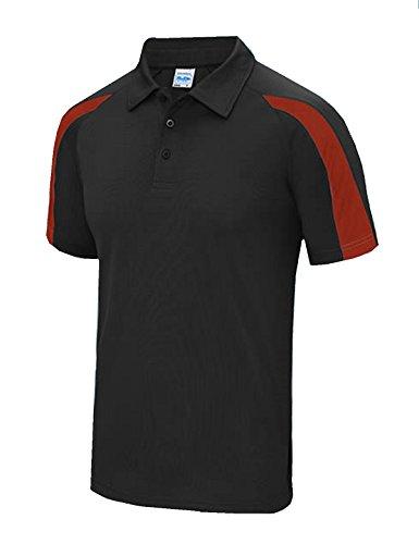 ciò facciamo che Jet Polo Contraste è french Cool Black Tutto Juste Red ROqdCqw