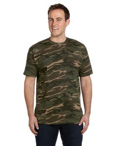Anvil Adult Camouflage Tee - Green Camo - 3XL