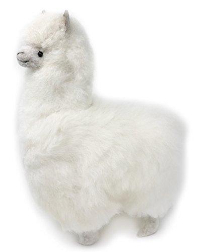 Standing Alpaca Fur Alpaca Adult Figure - White 12 Inch
