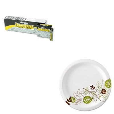 KITDXESXP10PATHEVEEN91 - Value Kit - Dixie Pathways Heavyweight Paper Plates (DXESXP10PATH) and Energizer Industrial Alkaline Batteries (EVEEN91) by Dixie