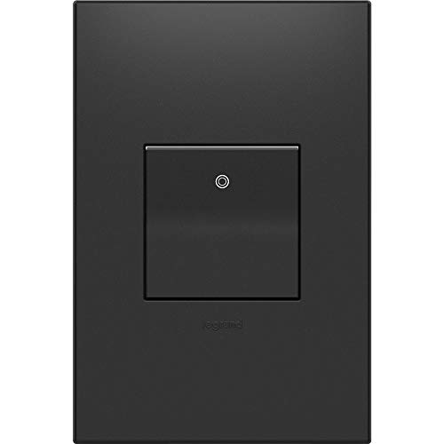 Legrand Adorne ASPD1532G4WP Paddle Switch, 15A, Graphite with Graphite Wall Plate (Switches Light Adorne)