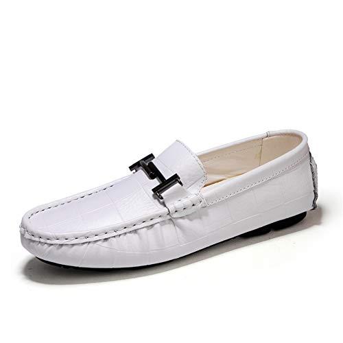 Primavera Moda fei 47 Redondo Ligero one Zapato Los Zapato Cuero Conducción Slip Cómodos Zapatos Mocasines De Otoño Gpf Hombres white Pie Suave Y YBPdqPw