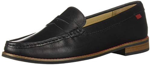 Kid Black Driving Leather - MARC JOSEPH NEW YORK Unisex-Kid's Leather Boys/Girls Casual Comfort Slip On Moccasin Penny Loafer Driving Style, Black Nappa, 12.5 Little Kid M US Little Kid
