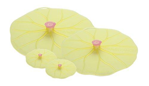 Lily Dish - Charles Viancin Lilypad Lid Set of 4 - Large, Medium & Drink Cover Set