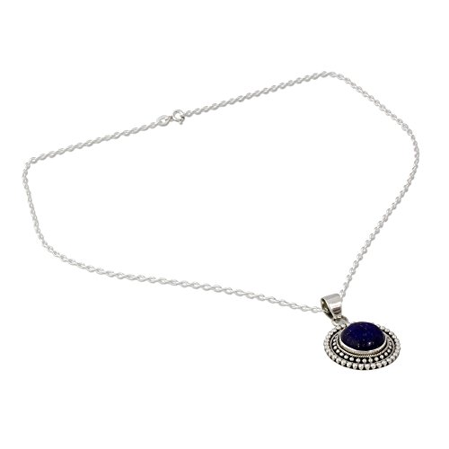 NOVICA Lazuli Sterling Pendant Necklace product image